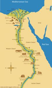 Mısır uygarlığınındaki piramitlerin haritası
