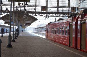 Moskova tren istasyonunda
