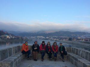 Drina köprüsünde soğuk bir kış günü