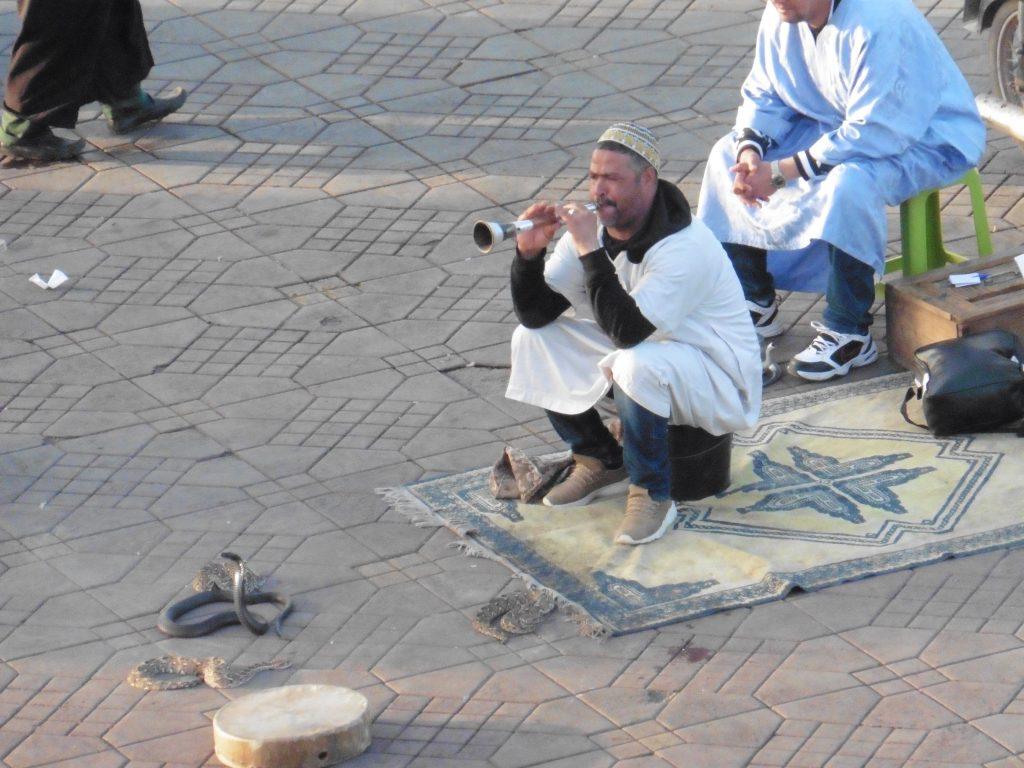 Marakeş'in ana meydanında
