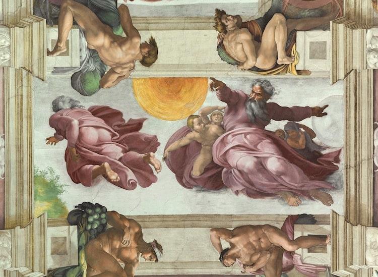 Michelangelo Sistine şapeli tavan detayı