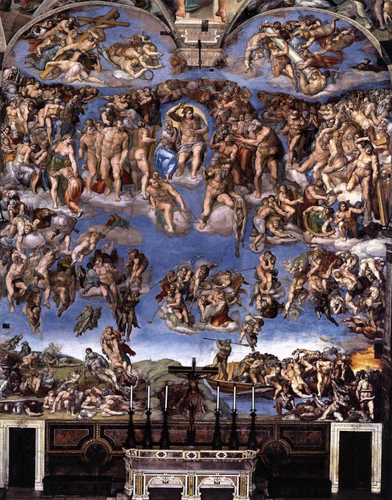 Michelangelo Son Yargı eseri  Vatikan Sistine şapeli