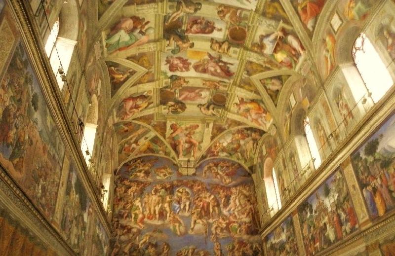 Vatikan sistine şapeli tavanı sanatının doruğundaki Michelangelo nun eseridir.