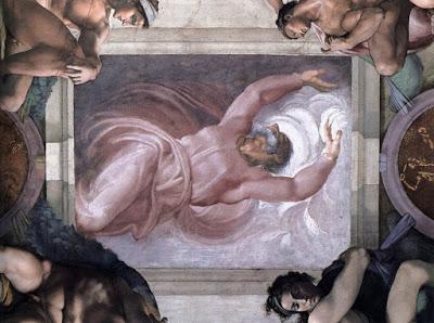 Michelangelo Sistine şapel tavanından detaylar