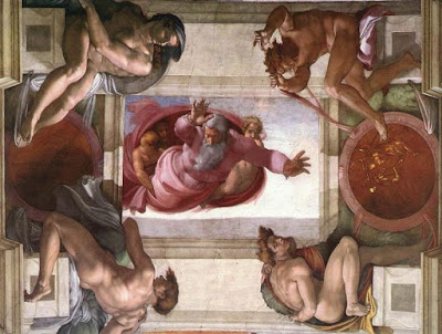 Michelangelo Sistine şapel detayı